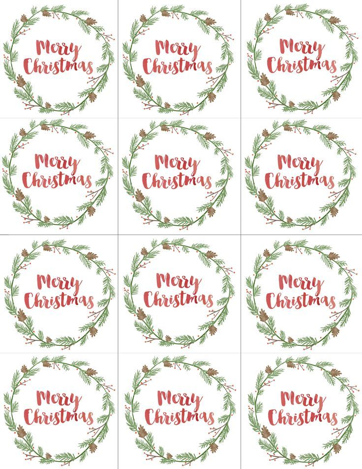 Hand Painted Watercolor Gift Tags FREE Printable