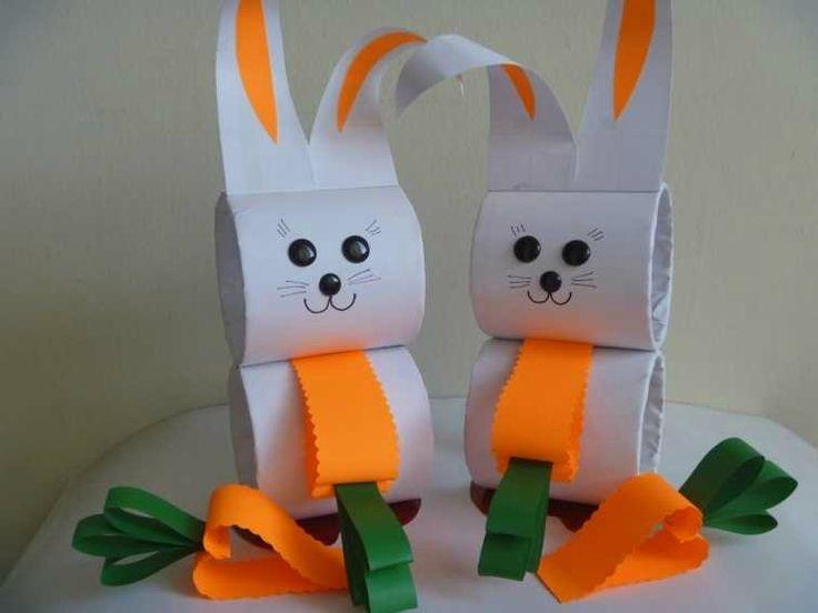 bricolage-Paques-lapins-carton-carottes-papier