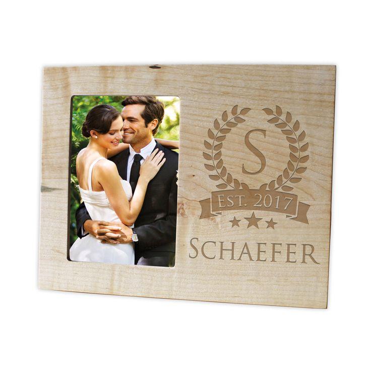 personalized family name photo framehardwood walnutcherrymaple engraved picture frame wood picture frame personalized picture frame