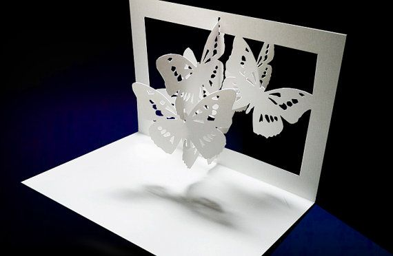Лет день, открытка поп ап бабочки