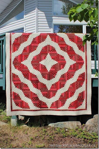 Log Cabin Love Patchwork Pinterest Beautiful Red
