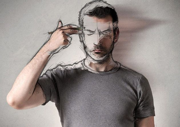 Sebastien turns his self-portraits into an animated cartoon (Ross Parry)