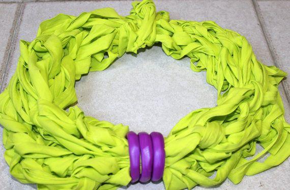 infinity scarfnecklace purple lemon di ilFilodiFranci