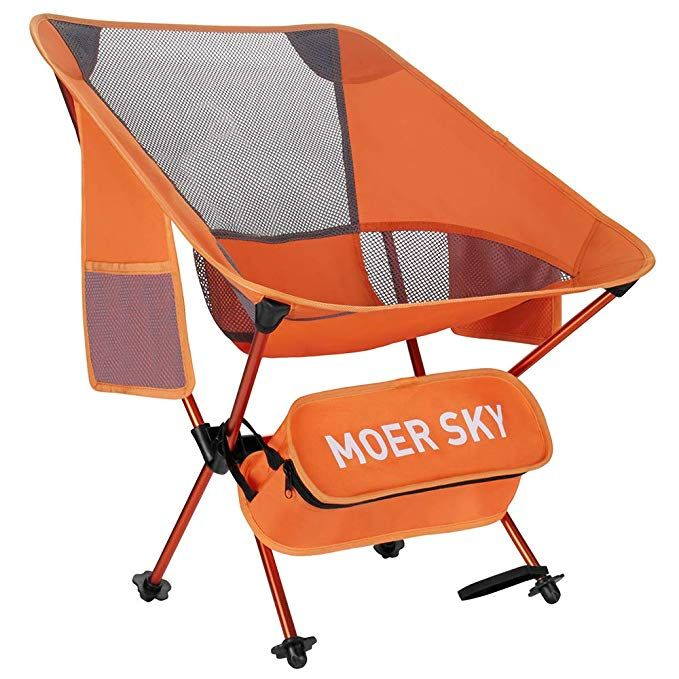 Moer Sky Folding Camping Chair Lightweight Compact Portable Backpacking Chair Heavy Duty 330l Backpacking Chair Portable Camping Chair Folding Camping Chairs
