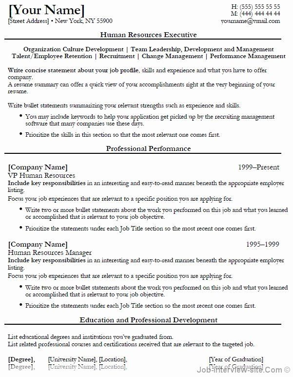 Human Resources Entry Level Resume Awesome Free 40 Top Professional Resume Templates In 2020 Hr Resume Human Resources Resume Job Resume Samples