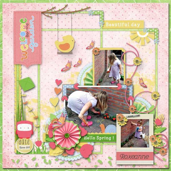 Layout by Janet. Kit: Spring is coming soon by LeaUgoScrap http://scrapbird.com/designers-c-73/k-m-c-73_516/leaugoscrap-c-73_516_300/spring-is-coming-soon-by-leaugoscrap-p-17869.html