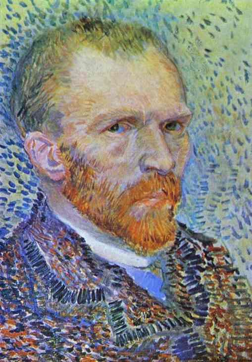 The eyes in the self-portraits of Van Gogh's works tell you everything about how human he was as an artist. 'Self-portrait' by Van Gogh (1887).