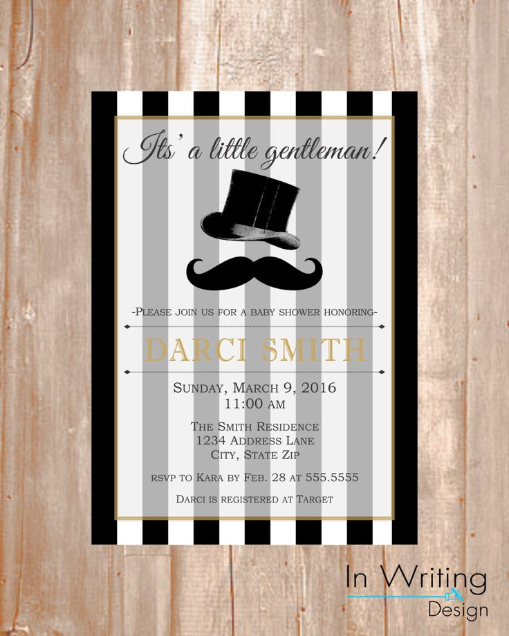 Little Gentleman  Baby Shower Invite By InWriting On Etsy Https://www.
