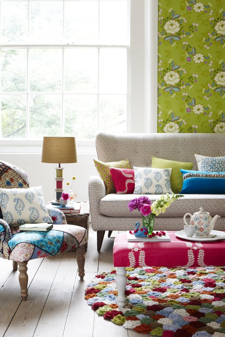BOHO STYLE LIVING ROOM GOODHOMES MAGAZINE OCTOBER 2012 STYLING EMMA CLAYTON PHOTOGRAPHY JOANNA HENDERSON