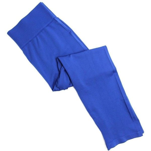 Cropped Leggings- Tall Curvy-Royal Blue ($20) ❤ liked on Polyvore featuring pants, leggings, tall trousers, tall pants, blue leggings, royal blue trousers and royal blue leggings