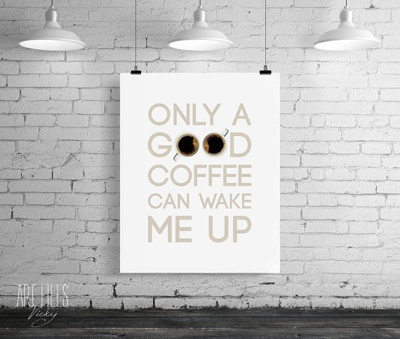 Coffee poster print Kitchen printable wall art by ArtFilesVicky