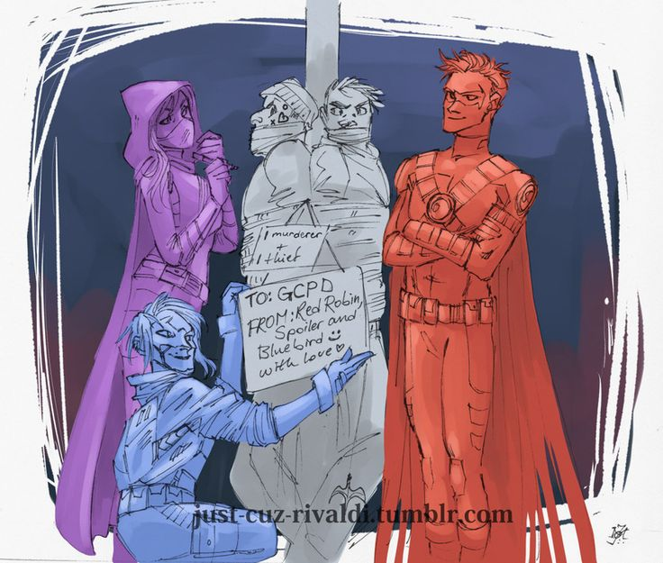 Red Robin,Красный Робин, Тим Дрейк,Bat Family,Бэт семья,DC Comics,DC Universe, Вселенная ДиСи,фэндомы,Bluebird,just-cuz-rivaldi,Stephanie Brown,Spoiler (DC)