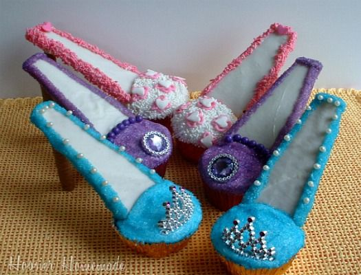 Stiletto Cupcakes are great for a little girls birthday party or even girls night out party.
