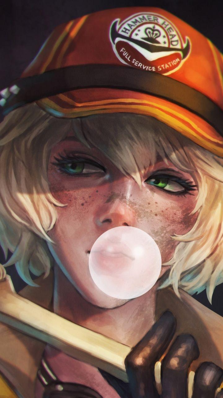Cindy Bubble Gum Final Fantasy Xv Artwork Hot 720x1280