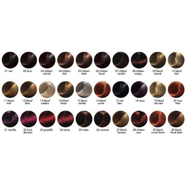 coloration roux titien 20 - Palette Coloration Cheveux