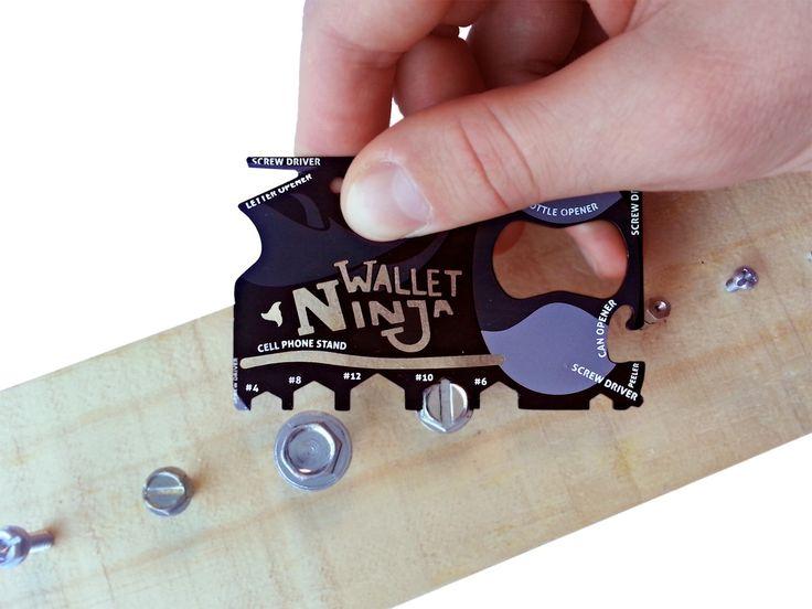 Ninja-Wallet, Multiwerkzeug mit 18 Funktionen - coolstuff.de