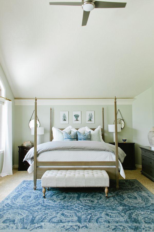 Soothing Blue U0026 Gray Bedroom (6th Street Design School)