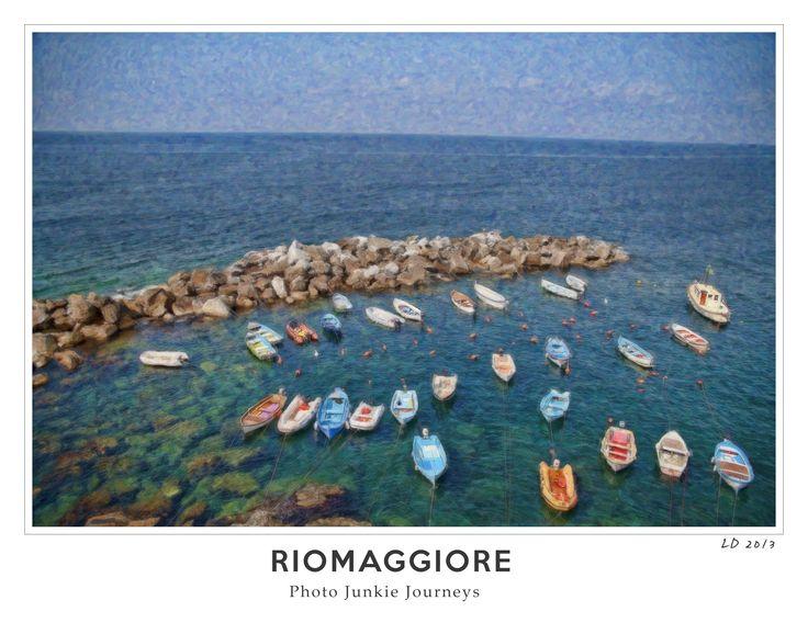 Watercolour digital art - Riomaggiore, Italy