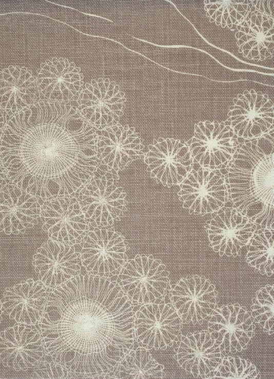 Gorgeous filigree pattern on Linen