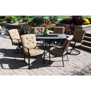Austin Valley 7 Piece Patio Dining Set  Seats 656 best Patio images on Pinterest   Patio dining sets  Outdoor  . Outdoor Dining Sets Austin. Home Design Ideas