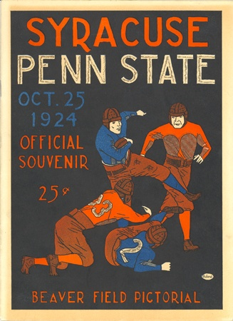 SU Penn State Football Program, 1924, Away Game, SU 10, Penn State 6