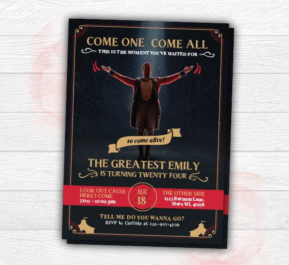 The Greatest Showman Invitation The Greatest Showman Birthday Invite The Greatest Showman Printable Come One The Greatest Showman Greatful Kids Invitations