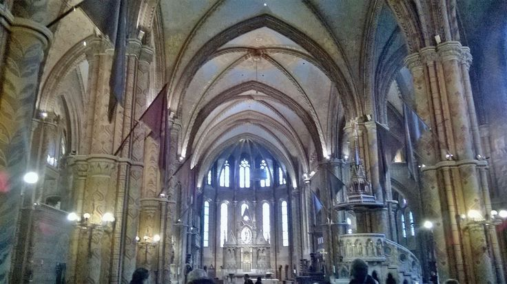 Inside Matthias church, beautiful, medieval atmosphere, unique architecture.  WALKING TOURS IN BUDA CASTLE DISTRICT / lovefromhungary.com