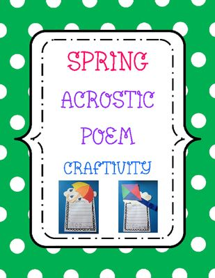 write an acrostic poem with the word spring