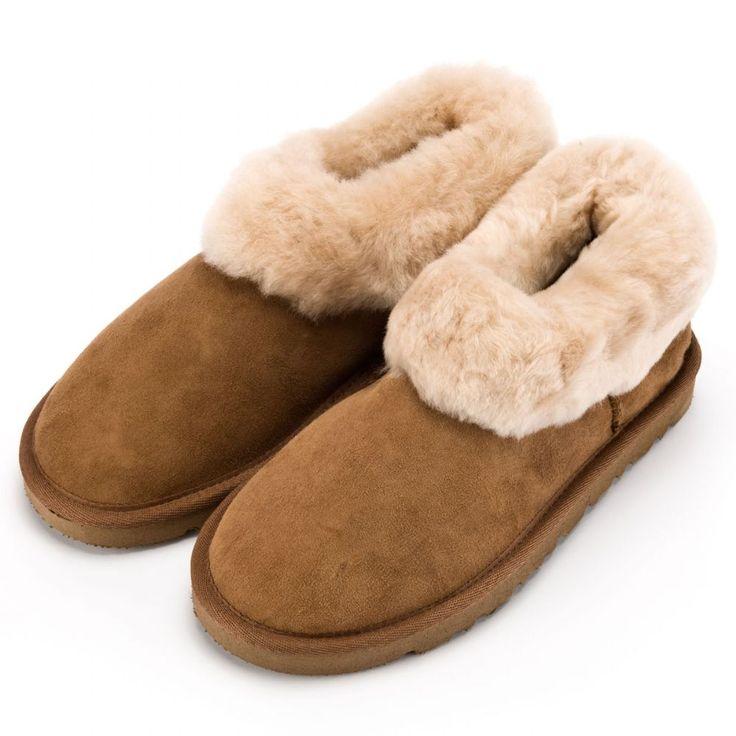 Ladies Sheepskin Slipper Boots