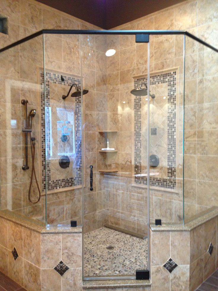 neoangle shower enclosure recently designed and installed by
