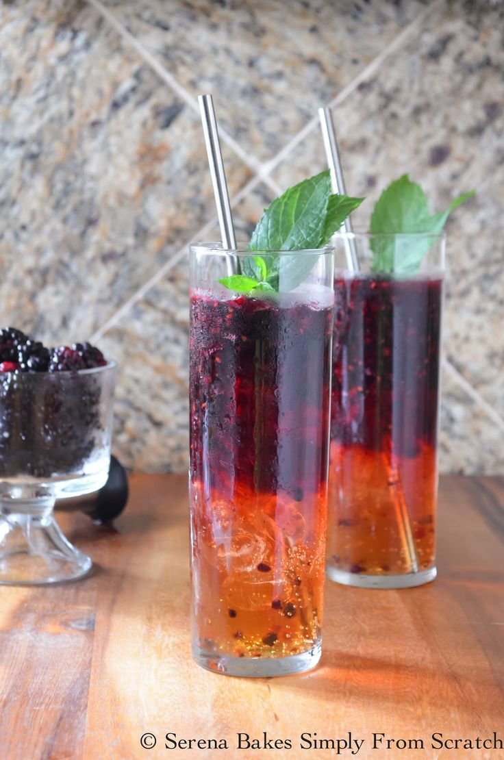 An easy to make cocktail, the Blackberry Moscow Mule, is as delicious as it is beautiful. Fresh blackberries, Vodka, Ginger Beer, Sugar, Ice and Mint (Add a splash of Raspberry Schnapps or Triple Sec if you have it).