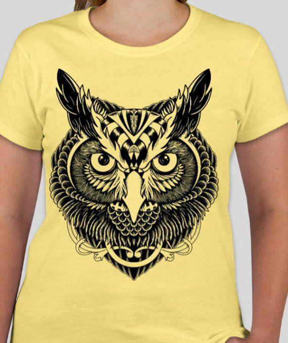a9a9cbb43cb0 Owl t shirt tops & tees unisex Adult clothing owl men's t shirt owl women's Children  clothing owl men's clothing gift shirt ...