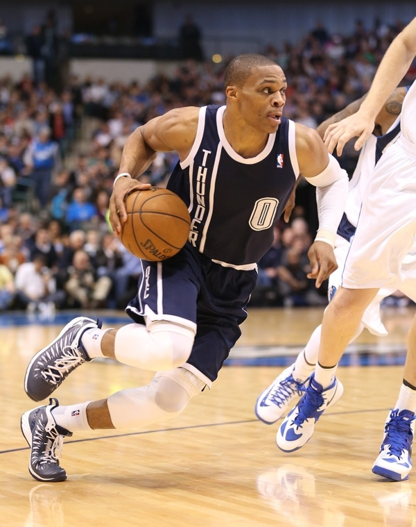 Russell Westbrook had 31 points, six assists and six rebounds as the Thunder defeated the Dallas Mavericks, 117-114, in overtime.
