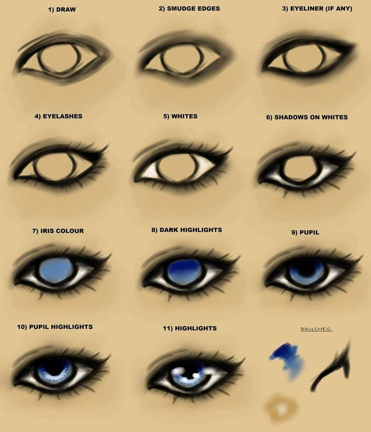 How to draw semi realistic eyes google search eyes for Drawing ideas for beginners step by step