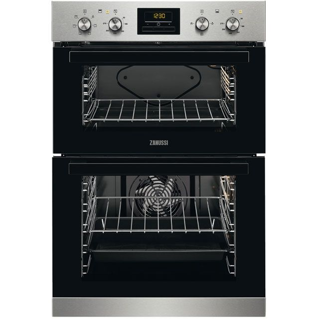 Zanussi Zod35621xk Built In Double Oven Stainless Steel A A Rated Built In Double Ovens Oven Stainless Steel