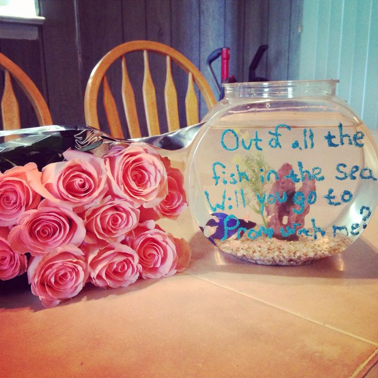 Promposal out of all the fish in the sea will you go to for All the fish in the sea