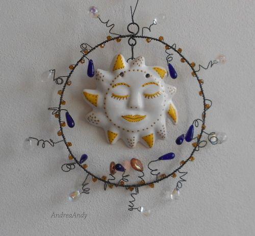 Pro slunečný dům II #handmade #rucniprace #slnko #slunce #zahrada #dratky #slunicko #jaro
