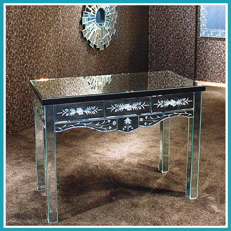 Reflections White Venetian Mirrored Bedroom Furniture Sideboard