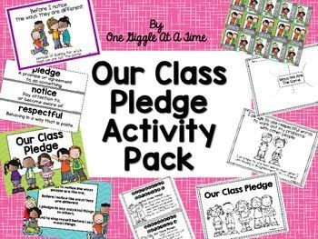 In our classroom, we focus a great deal of time and attention on unity, kindness and  respect.  We have a Class Pledge that we recite every morning, beginning the very first day of school, all the way up to the last day of school.  We not only recite it, but we live by it each day in our classroom.