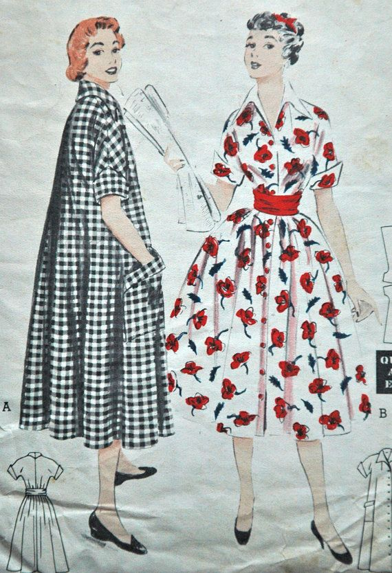 It's the red and white print I really love about this picture.  What striking contrast for the 50s dress!