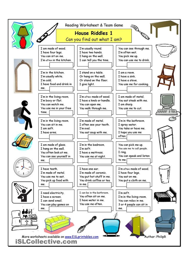"""An activity for the beginning of the year to get inferencing and reasoning skills in effect. --House Riddles (1) - Easy-- Do whole class, model Think Aloud methods, elicit student responses, practice partner share with sentence frames. """"I think it is a ____ because _____."""