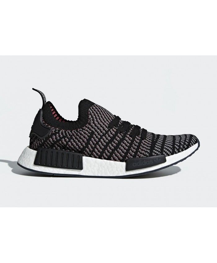 Adidas NMD R1 Primeknit STLT Core Black Trainers Cheap UK