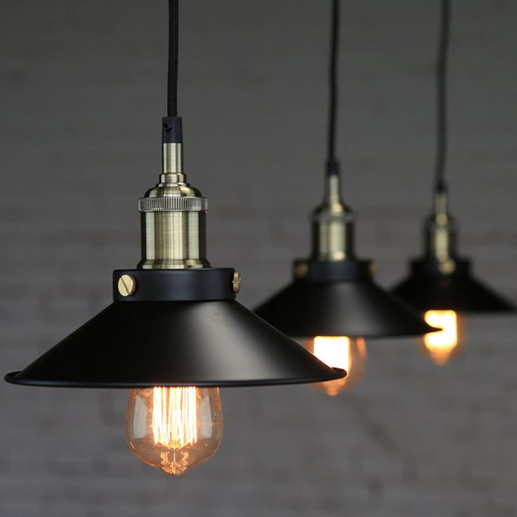 Black Industrial Light Part - 34: Industrial Vintage Lampshade Ceiling Light Pendant Lamp Shade Bar Pub  Chandelier