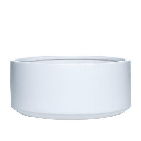 Fredrik Low Pot White