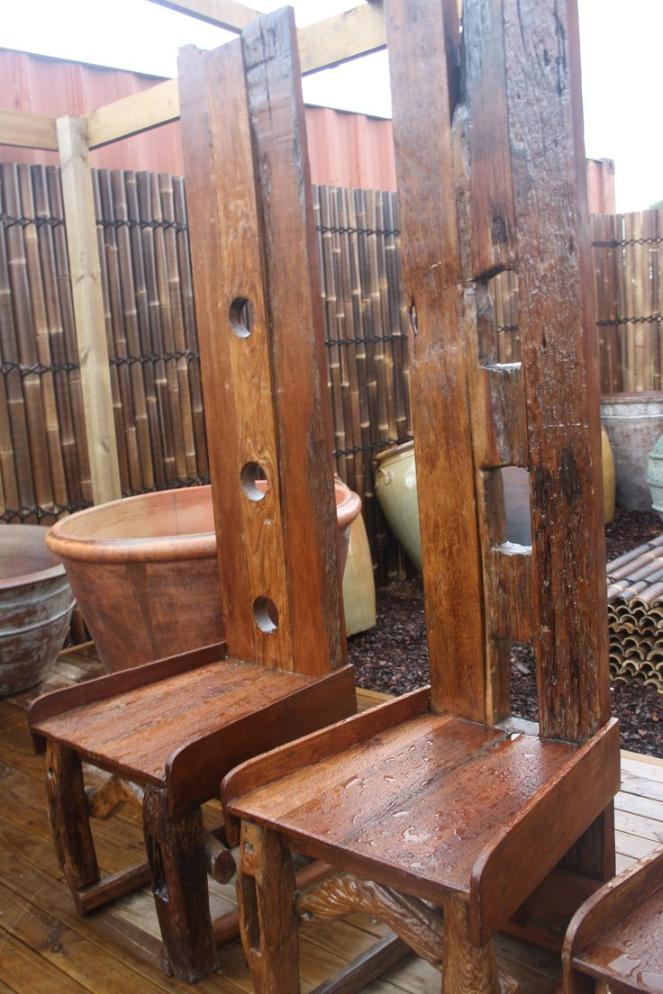 Odd furniture how cool are these unique viking chairs for Viking outdoor