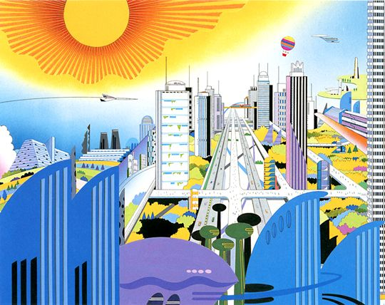 Hiroshi Manabe (1932-2000) was a Japanese illustrator who created these fantastical images.