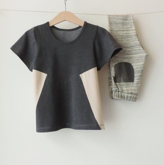Boys T-Shirt, Girls T-Shirt, Kids T-Shirt, Toddlers Short Sleeves, Boys Top, Toddler Summer, Hipster Toddlers, Grey And Nude Cotton