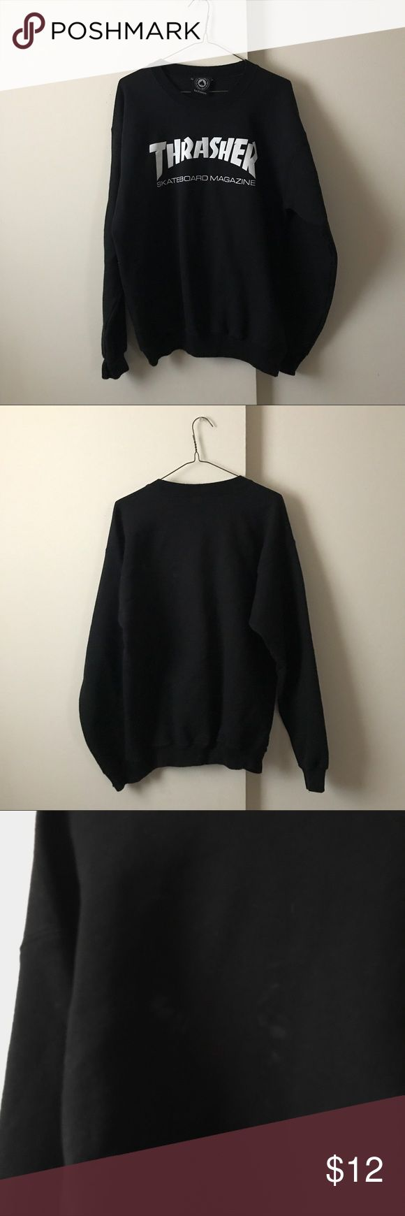 Selling this Thrasher Skateboard Crewneck Sweatshirt on Poshmark! My username is: hellokimchi. #shopmycloset #poshmark #fashion #shopping #style #forsale #Thrasher #Sweaters