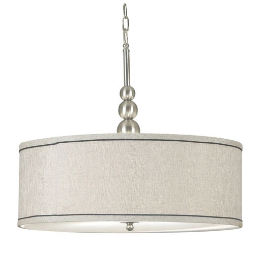 Might look good with a round dining table.  Dining room light fixture