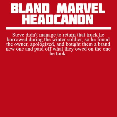 I totally believe this one... / Captain America Headcanon
